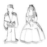 Ausstecher mit Liebe und Hochzeit Motiven