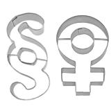 Ausstecher mit Zeichen und Symbol-Motiven