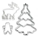 Ausstecher mit Winter und Weihnachten Motiven
