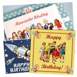 Grußkarten und Postkarten