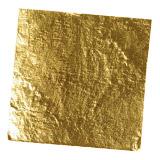 Essbares Blattgold und Goldflocken
